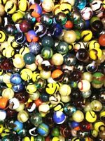 "Set of 500, 5/8"" Glass Player Marbles, Bulk Assorted Mega Lot, Free S&H"