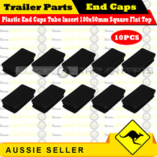 10 x Superior Plastic End Caps Tube Insert 100x50mm Square Flat Top