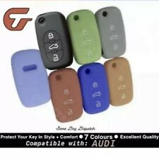 Audi Quality Skin Silicone Protection Car Flip Key Cover Fits: A2 A3 A4 A6 A8 TT