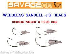 Savage Gear Saltwater Sandeel Weedless Jig Heads - Bass Cod Sea Fishing Tackle #1/0 10g
