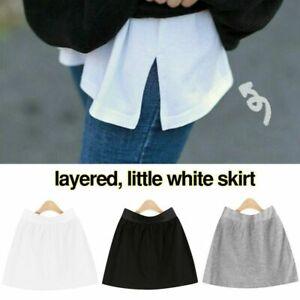 Damen False Shirt Abnehmbarer Rock Unterrock Skirt Schwanz Bluse Saum Sweatshirt