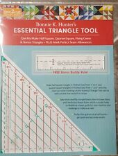 NEW Bonnie Hunter, essential triangle tool, free bonus Buddy ruler