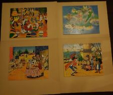 Lot de 4 puzzles vintage DISNEY