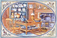 """""""Avalon"""" MURO pannello di mattonelle piastrelle 6 x 15 CM x 15 cm decorato a mano nel Regno Unito"""