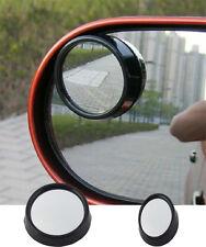 1 pair Car Vehicle  Driver Wide Angle Round Convex Mirror Blind Spot Black BG