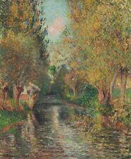 Camille Pissarro The Wash House of Bazincourt Art Canvas Print HQ Decor 8x10