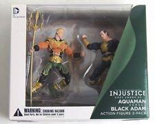 Esz608. Injustice Gods Among Us Aquaman Vs. Black Adam Action Figures Dc Comics