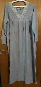 Comfort Choice Waffle Weave Thermal Nightgown 1X gray