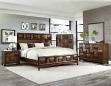 walnut bedroom set. HAYDEN  Modern 5pcs Walnut Brown Queen Panel Bedroom Set Furniture Special Sets eBay