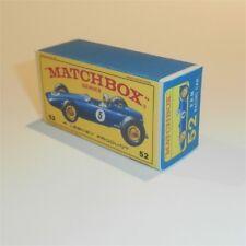 Matchbox Lesney 52 b B.R.M Racing Car BRM empty Repro E-E3 style Box