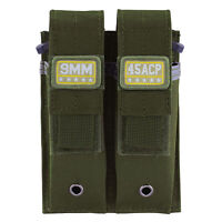 Army Green 9MM .45 ACP .40 S&W Pistol Mag Pouch Military Double Magazine Holster