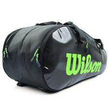 Wilson Super Tour 2 Comp 9 Pack Black Tennis Racquet Backpack Bag Wr8004201001