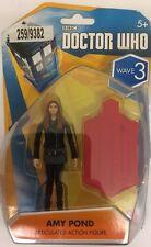 "Doctor Who Amy Pond articolato Action Figure 3.75"" WAVE 3 (Giacca Nera) Nuovo con Scatola"