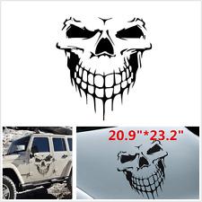 Black Skeleton Head Car Hood Decal Vinyl Big Graphic Sticker SUV Tailgate Window