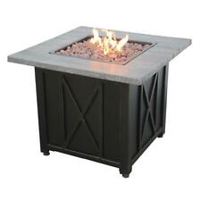 Endless Summer GAD1450SP Outdoor LP Fire Table w/Wood Look Resin Mantel- 30