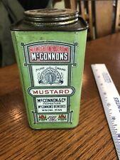 Mcconnon's Mustard Tin Can Winona Minn