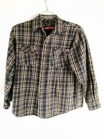 Craftsman Heavy Duty Work Shirt Men's Large Gray Button-Down Shirt Long Sleeve