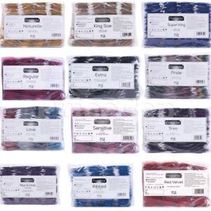 144 Pasante Condoms Extra Safe Regular Delay Ribbed Trim Flavour King Size Pride