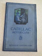 Original 1918 Cadillac Motor Cars advertising booklet - Details of Construction