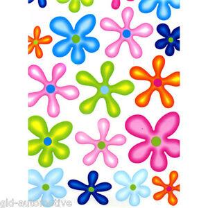 ADESIVO 33x24cm  Adesivi Fun Flower  fiori colorati, decorazioni