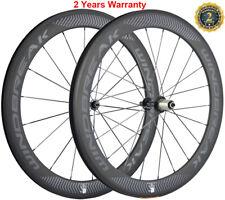 60mm Rennrad Carbon Laufradsatz Rennrad Räder Laufrader 700C Drahtreifen 23mm