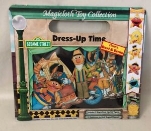 Vtg NOS Magicloth Toy Collection Sesame Street Bert & Ernie Dress Up Time Toys