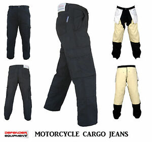 Motorcycle Pants Jeans Motorbike Straight Cut Black with DuPont™ Kevlar® Size 46