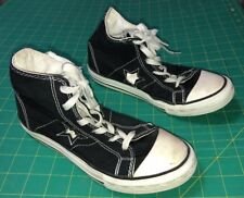 Junior Youth Unisex Converse All Star One Star Black Hi Top Shoes US 4