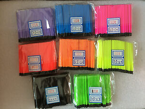 5 of 6 Hollow Antenna Fluo Tips Bristle For Pole Fish Float Pack of 100pcs 2.5mm