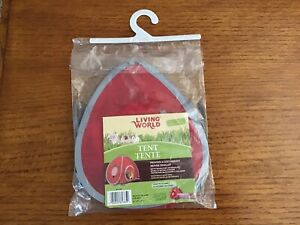 Living World Tent for Pets Guinea Pigs & Rabbits Red Removable Fleece Lining NEW