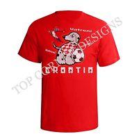 Mens T-Shirt CROATIA Football Mascot EURO 2016 Supporter Shirt New Sizes S-XXL
