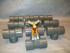 """Spears D2467 SCH 80 PVC T Pipe Fitting 1 1/4"""" slip x slip x slip Lot of 10"""
