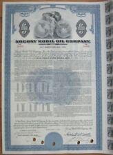 ''Socony Mobil Oil Company'' - $1000 Vertical Bond Certificate