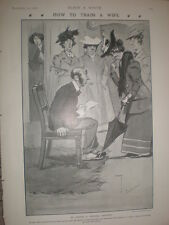 How To Train a Wife How to pick servants Charles Crombie 1906 old cartoon print