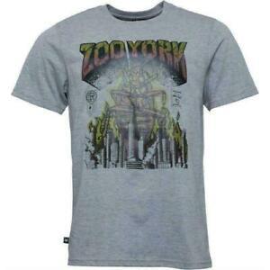 Zoo York - Rasta Roach   Grafik Herren T-Shirt Graumeliert Größen  L