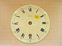 Petit cadran émail pendule Zenith neuchateloise horloge Uhr Clock 11 cm dial N°2