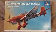 Italeri Junkers JU-87 B2/R2 Dive Bomber Model Kit - 1:72 Scale - #079    (G 30)