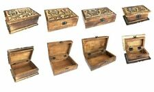 Wooden Rectangular Decorative Storage Boxes with Lid