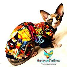 Large Long Sphynx Cat Kitten Top T-shirt Vest Devon Peterbald Pet Cat Clothes