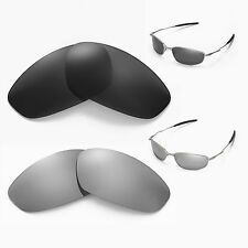 New Walleva Polarized Black + Titanium Lenses For Oakley Whisker