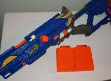 Nerf N-Strike Longstrike CS-6 Blaster Dart Gun + 2 Clips (No Barrel Extension)