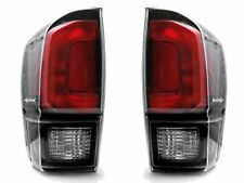 Fits 2016 2017 2018 2019 Toyota Tacoma Tail Lights Clear Lens Blk TRD Pro Style
