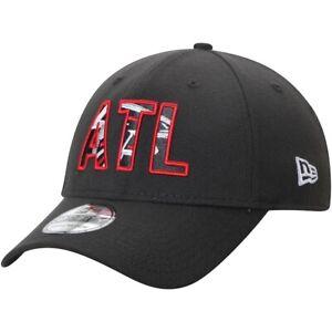 Atlanta Falcons Hat ATL New Era 39Thirty 3930 Flex-Fit Cap Size S/M/L NFL Black