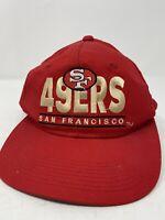 San Francisco 49ers Vintage Trucker Hat Snapback Cap Red NFL Football 80s Mens