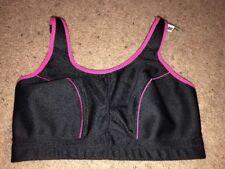 Wingslove Women's Wirefree Unpadded Sports Bra Black Pink 34G NWT