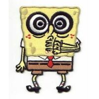SpongeBob SquarePants Spiral Crazy-Eyed Figure Embroidered Patch, NEW UNUSED