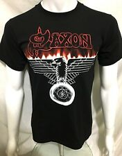 More details for saxon - eagle - official t-shirt (m) nwobhm original genuine merch. heavy metal