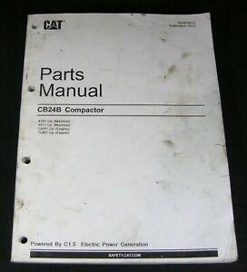 CAT Caterpillar CB24B Vibratory Compactor Parts Manual Book Catalog 4201 4671 up