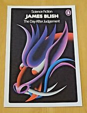 PENGUIN SCI-FI BOOK COVER POSTCARD 'THE DAY AFTER JUDGEMENT' BY JAMES BLISH ~NEW