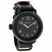 Original Nixon Men's A279001 October All Black 48.5mm Leather Strap Swiss Watch